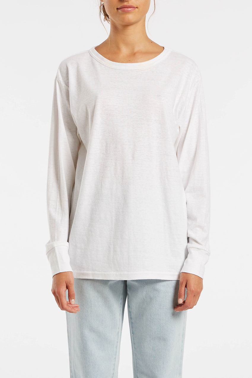 Signature Long Sleeve T Shirt - White