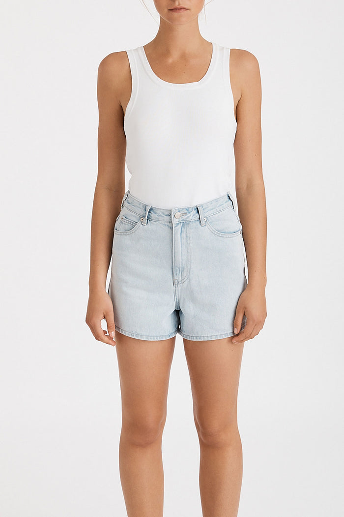 The Mom Short - Washed Blue