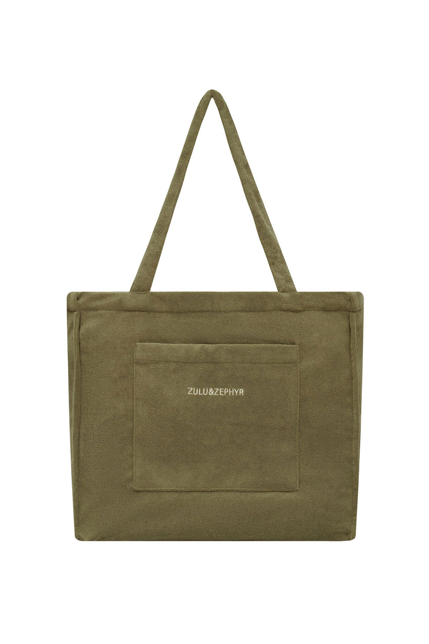 Towelling Bag - Khaki