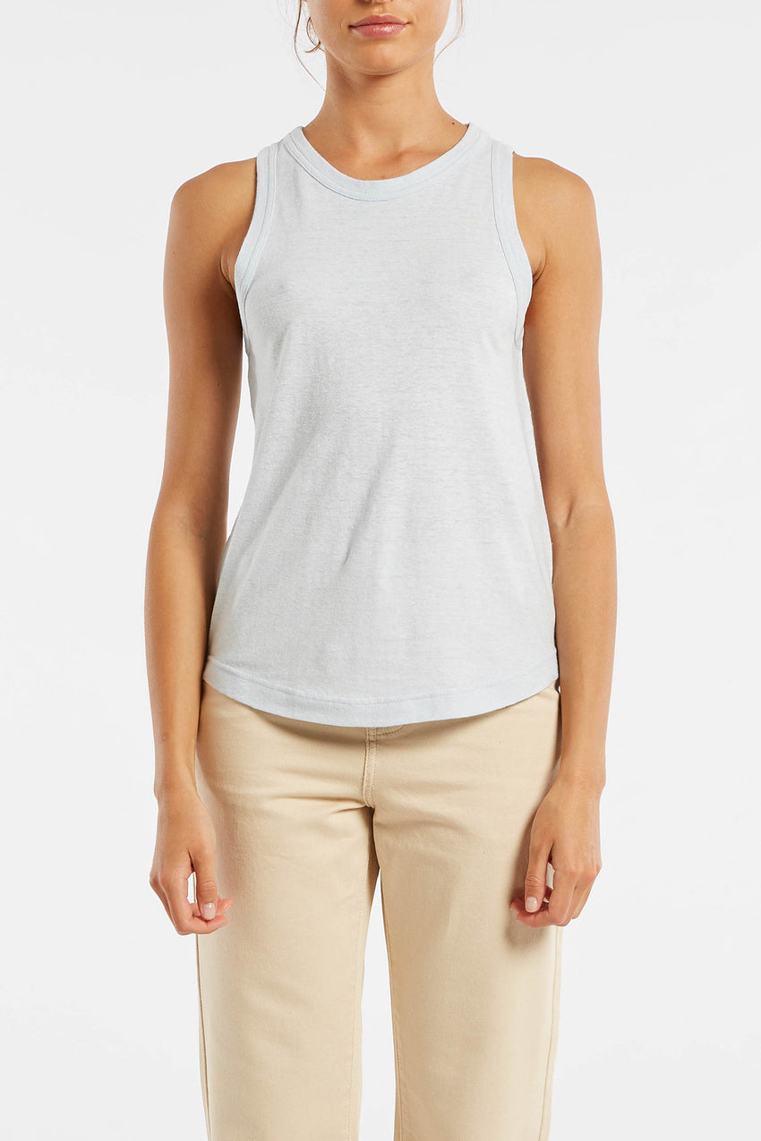 Signature Girlfriend Tank - Powder Blue