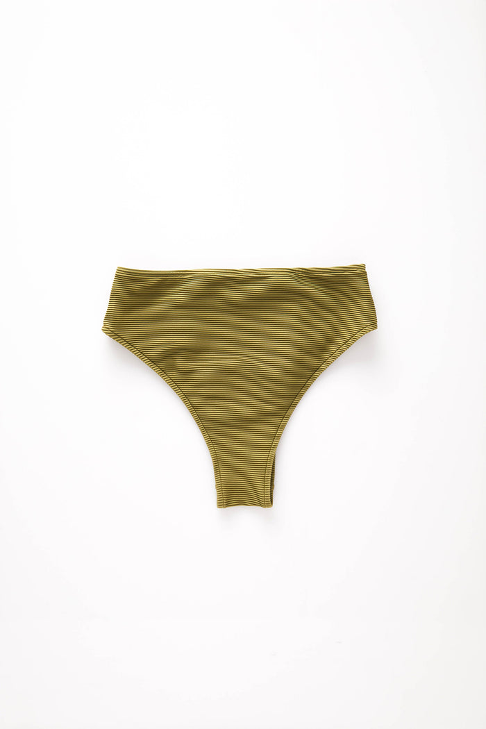 Signature Skimpy High Waisted Brief - Olive|PRE-ORDER MARCH