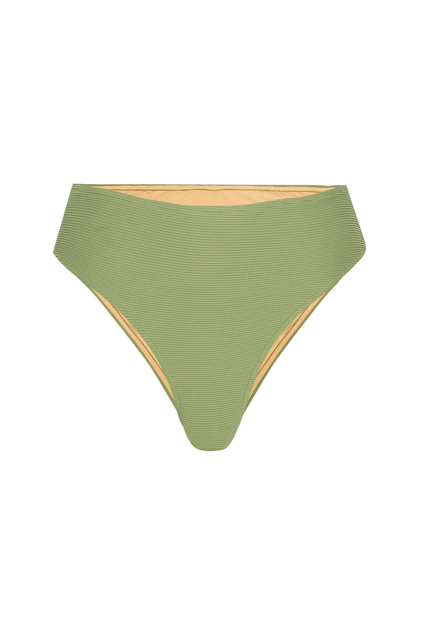 Signature Skimpy High Waisted Brief - Tallow Green