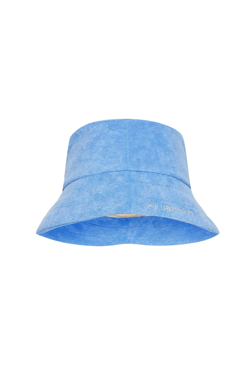 Towelling Hat - Blue