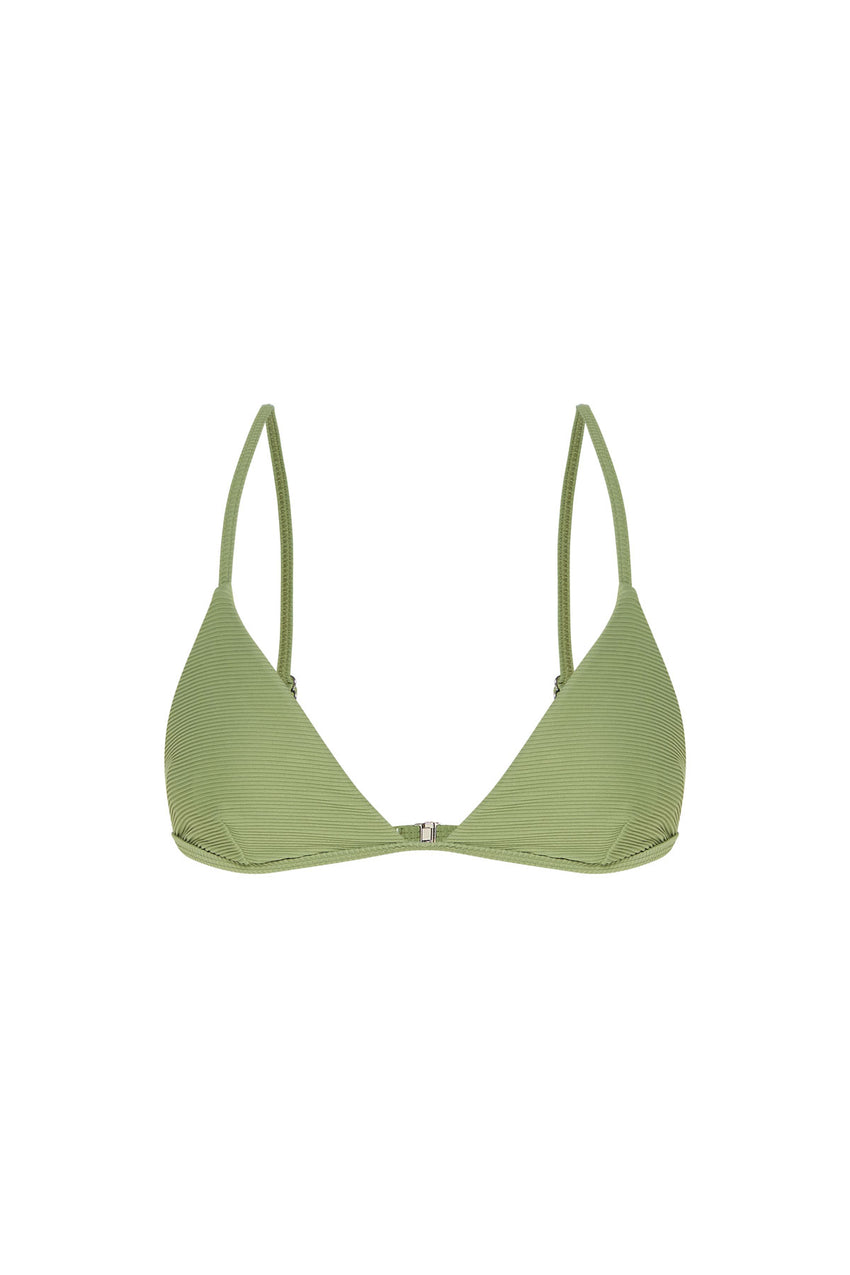 Signature Skimpy Tricup Top - Tallow Green