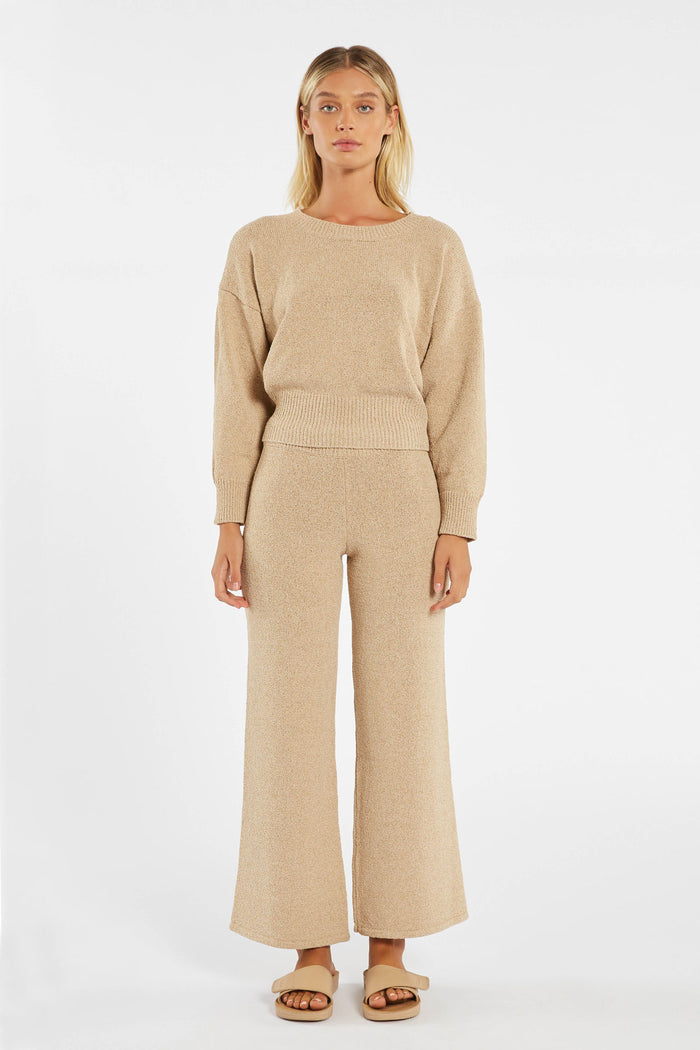 Whitewash Knit Jumper - Natural