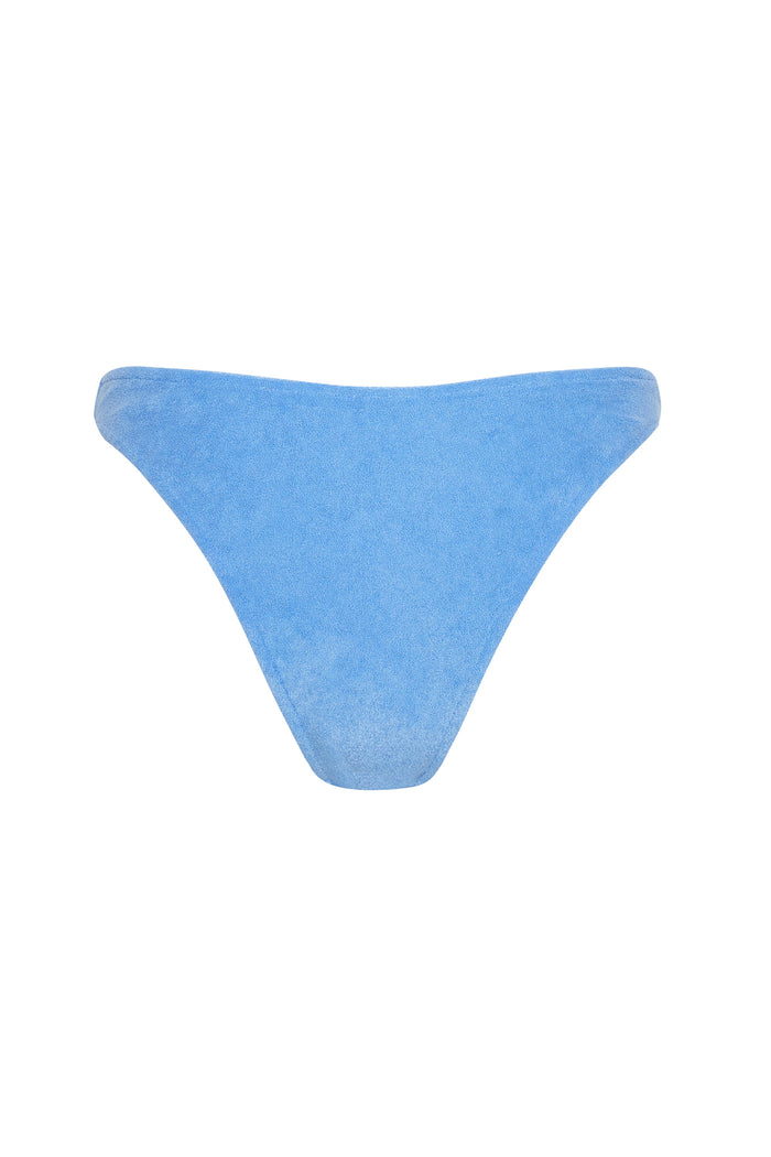 Towelling Curve Brief - Blue