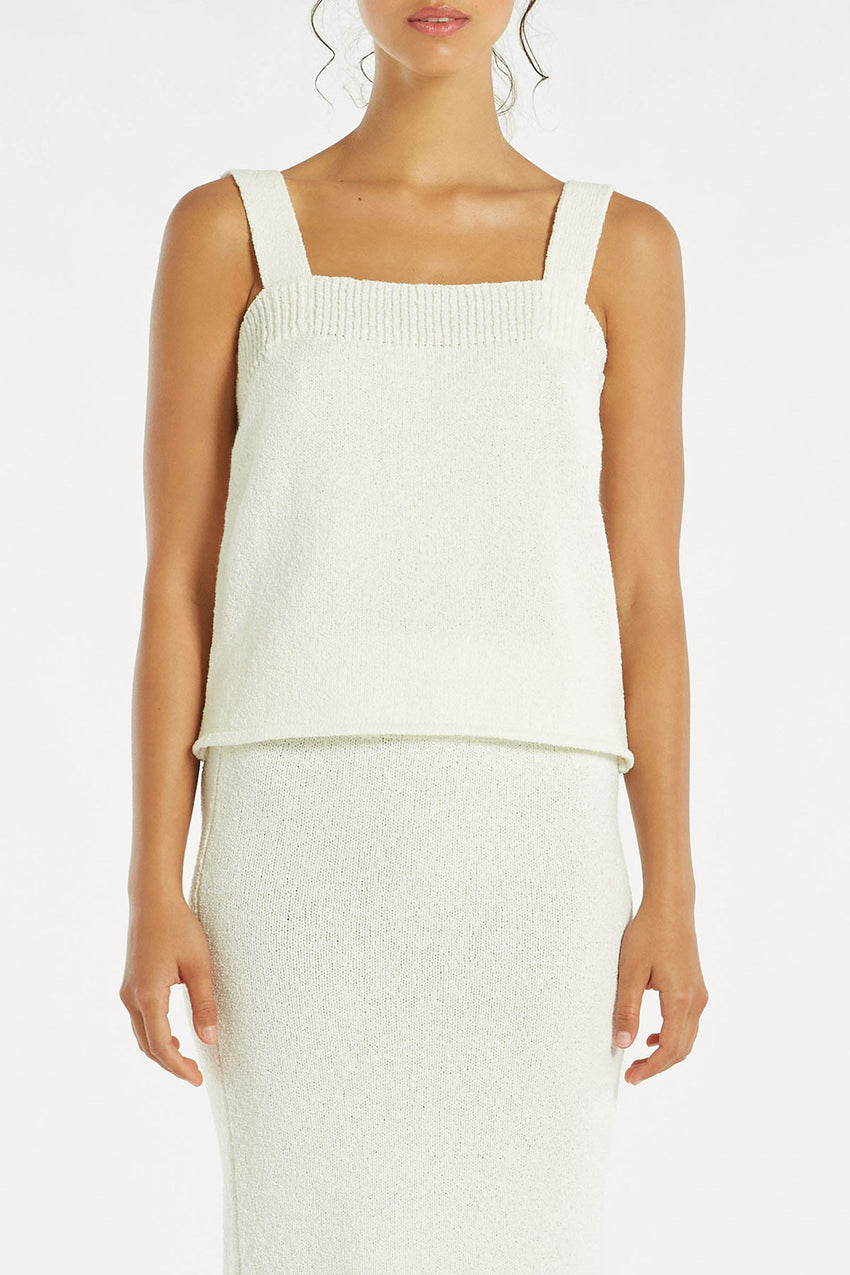 Breeze Knit Cami - White