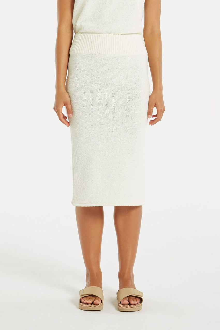 Breeze Knit Skirt - White