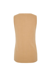 Signature Rib Knit Tank - Tan