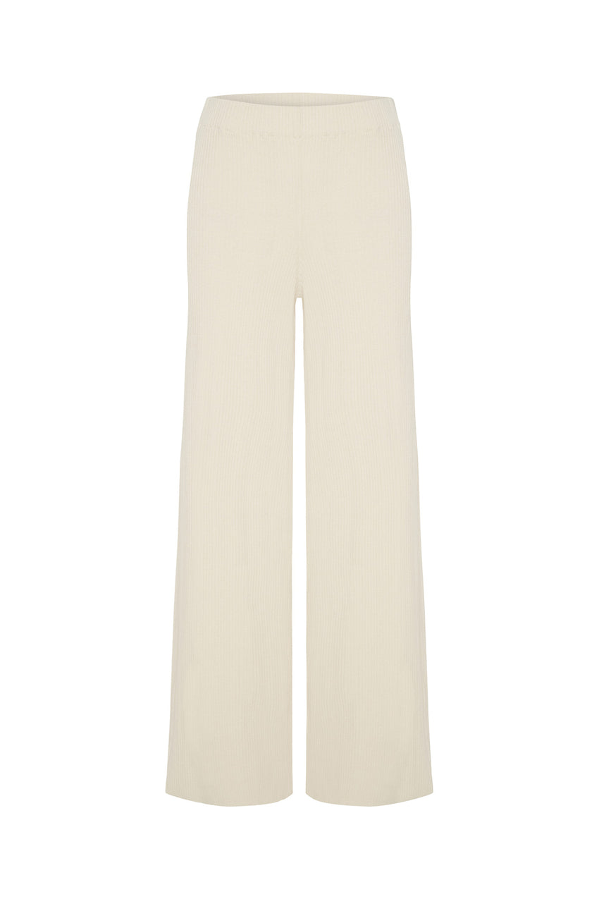 Signature Rib Knit Pant - Warm White