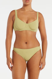 Cord Towelling Classic Brief - Olive