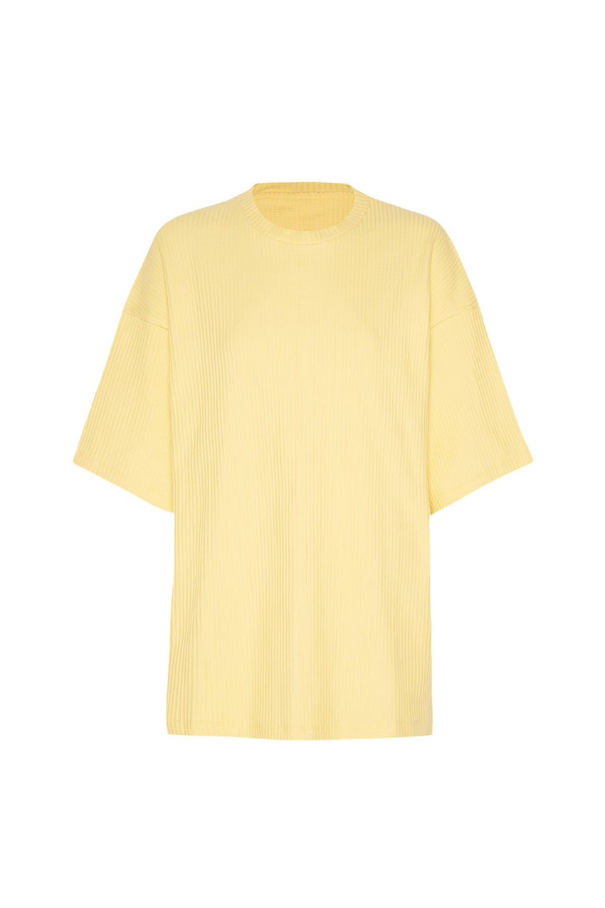 Classic Ribbed Tee - Lemon