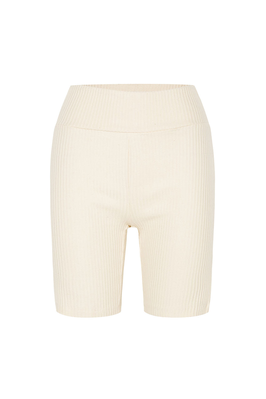 Classic Ribbed Short - Cream