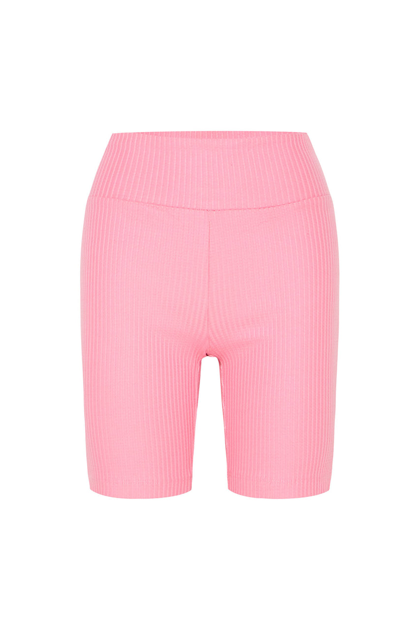 Classic Ribbed Short - Hot Pink