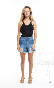 Indigo Zed Boyfriend Denim Short
