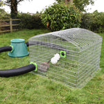 Hay Hutch Circuit rabbit run. Uses a 4ft square run and 2 connection kits to link to a hay hutch