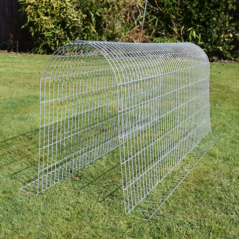 High Mesh Tunnel for outdoor rabbits, Guinea Pigs or other small furries. Easy to connect to other cages or enclosures.