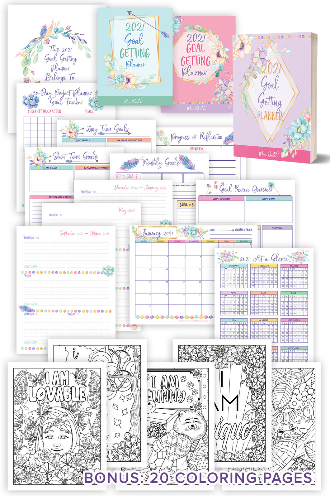2021 Deluxe Weekly Goal Getting Planner (133 Pages)