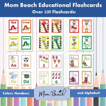 Load image into Gallery viewer, Mom Beach Educational Flashcards (108 Cards)