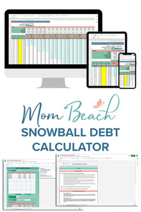 Mom Beach Debt Snowball Calculator (Spreadsheet)