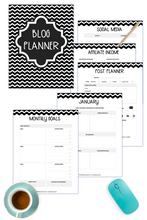 Load image into Gallery viewer, Blog Planner - Color and Black and White ( 118 Pages )