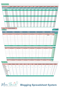 Mom Beach Blogging Spreadsheet System