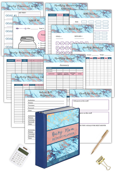Busy Mom Budget Planner ( 101 Pages )