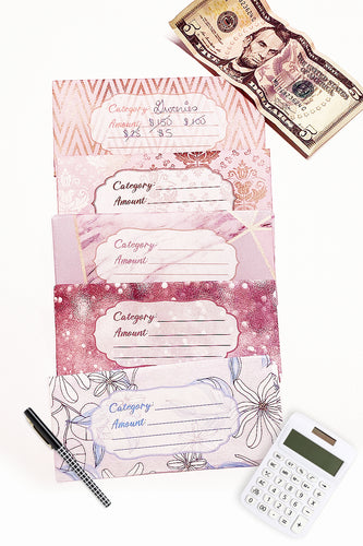 Pretty in Pink Cash Envelope Template Bundle ( 5 Pages )