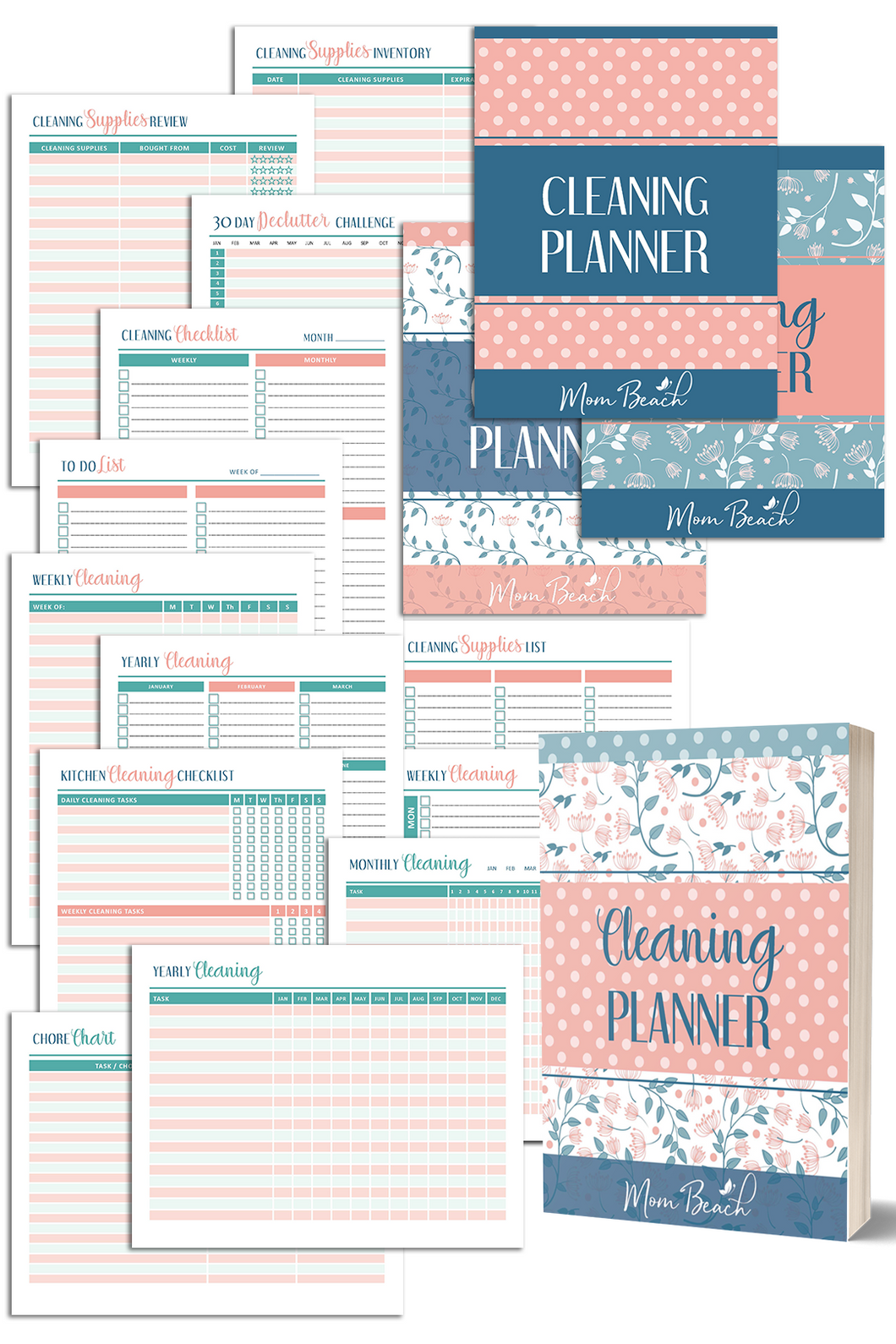 Cute Cleaning Planner (39 Pages)