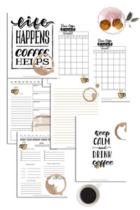 Life Happens - Coffee Helps Planner (19 Pages)