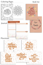 Load image into Gallery viewer, Thanksgiving Planner and Journal (51 Pages)