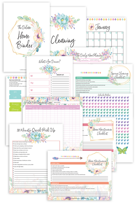 Deluxe Home Binder (47 Pages)