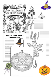 Halloween Coloring Book Journal (23 Pages)