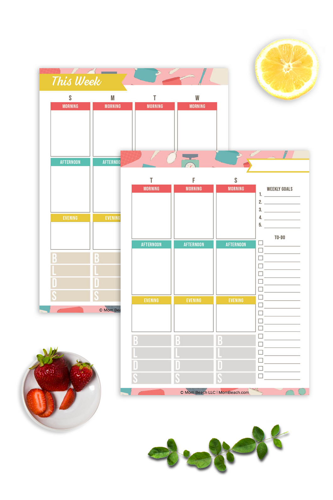 Weekly Meal Planning Worksheets