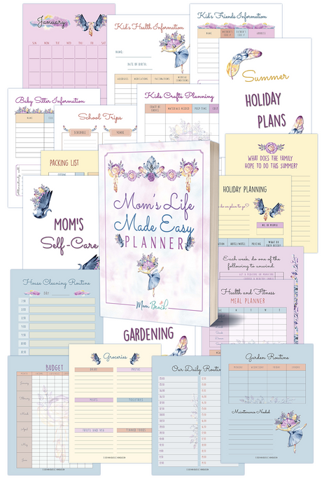 Mom's Life Made Easy Planner ( 78 Pages )