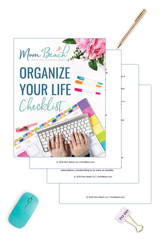 Organize Your Life Checklist ( 4 Pages)