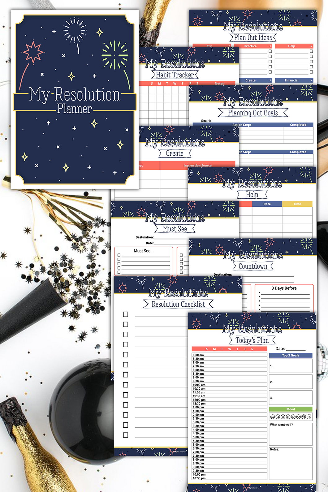 My Resolution Planner ( 29 Pages )