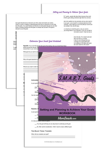 S.M.A.R.T. Goals Guide and Workbook (5 Pages)