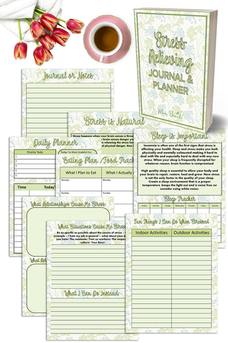 Stress Relieving Journal and Planner (18 Pages)
