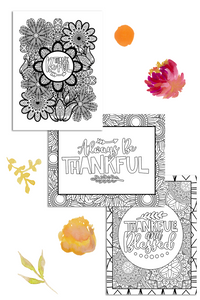 Thanksgiving Coloring Pages Pack (3 Pages)