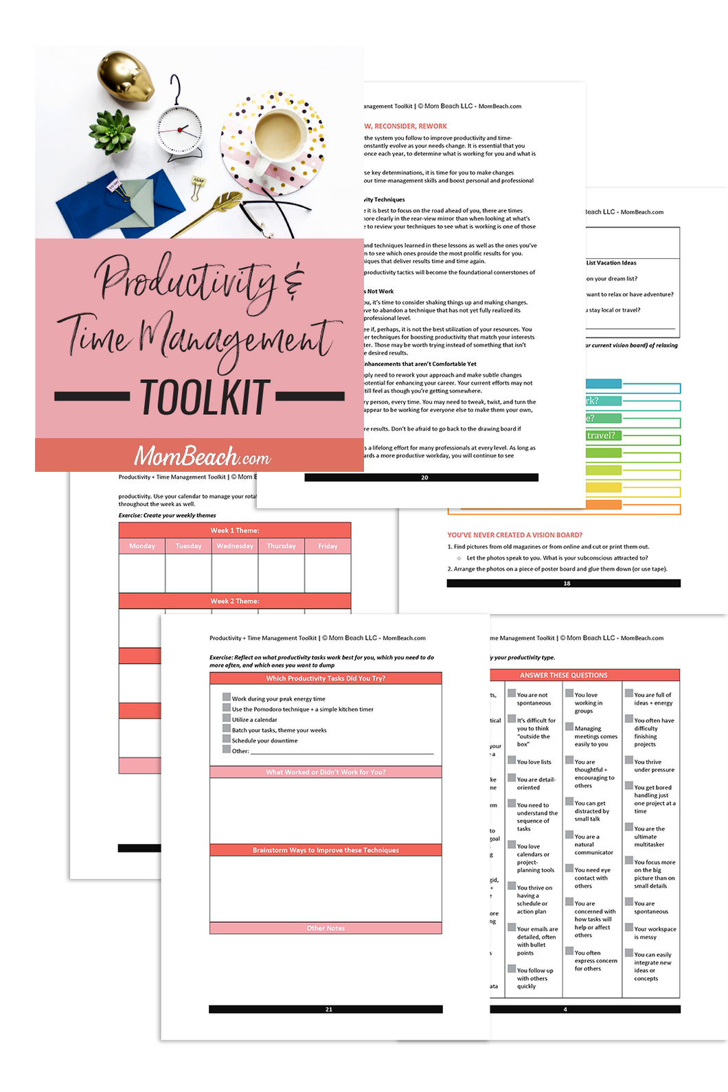 Productivity and Time Management Toolkit (24 Pages)