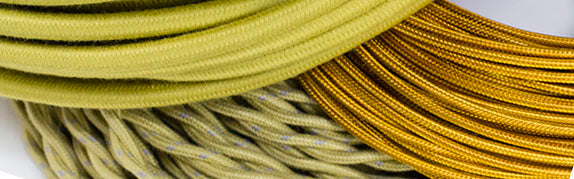 gold cloth-covered wire