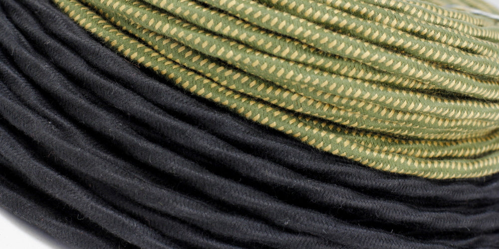 cloth-covered overbraid wire