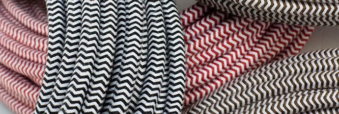 zig-zag pattern cloth-covered wire
