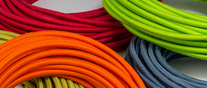 solid color cloth-covered wire