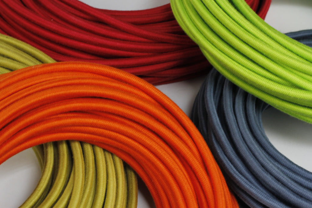 RED 20 AWG vintage style solid cloth wire 6 ft