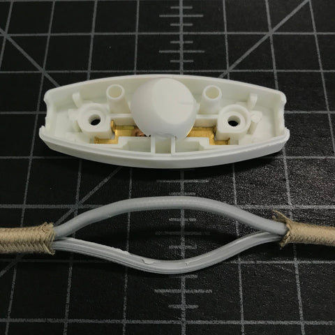 slim switch and parallel cord with wires separated