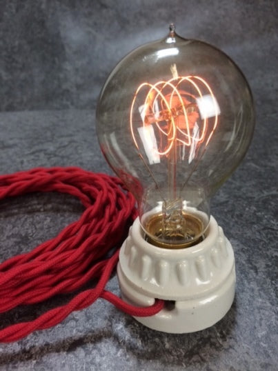 BULB: VICTORIAN STYLE WITH QUAD LOOP FILAMENT, 40W