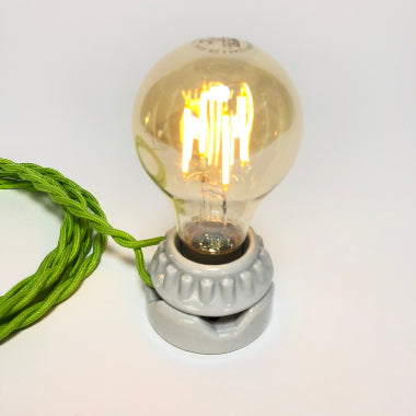 BULB: VICTORIAN STYLE WITH LED FILAMENT, 4.5W, AMBER, lit.