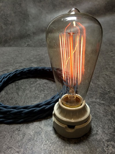 BULB: EDISON STYLE WITH MARCONI FILAMENT, unlit